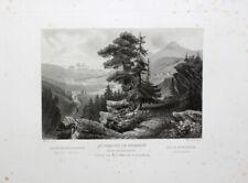 Graubünden Sankt Moritz Engadin Maloja Kur-Ort Corviglia Rüdisühli Aquatinta