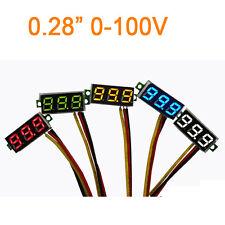 """0.28"""" DC 0-100V Voltmeter red led Digital Display Voltage VOLT METER 12V 24V"""