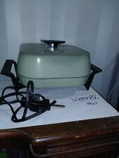 Vintage Sunbeam Electric Fry Pan Skillet -  Avocado Green