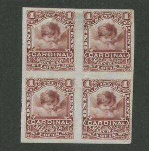 1878 United States Internal Revenue Cardinal Matches Stamp #RO58 Mint Block of 4