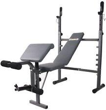 Body Champ Mid-Width Weight Bench with Preacher Curl & Leg Developer