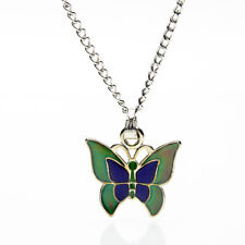 Sea Gems Butterfly Colour Change Mood Necklace / Pendant with 16.5 inch Chain