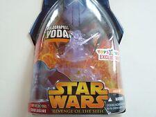"""STAR WARS REVENGE OF THE SITH YODA HOLOGRAPHIC TOYS""""R""""US EXCLUSIVE HASBRO figure"""