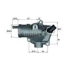 BEHR TH 11 87 Thermostat, Kühlmittel   Mercedes-Benz Sprinter 4-T Kasten SL