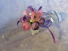 Wrist Corsage Pink White Purple silk flower Rose bridal wedding prom ball