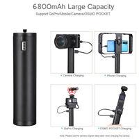 Ulanzi BG-2 Power Grip Selfie Stick 6800mAh for DJI OSMO GoPro 8 7 6 Smartphones