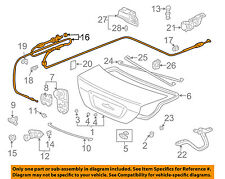 HONDA OEM 01-05 Civic Trunk Lid-Release Cable 74880S5P305