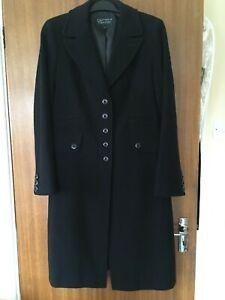Smart Cornelius George Black Long Winter Coat VGC Size 14