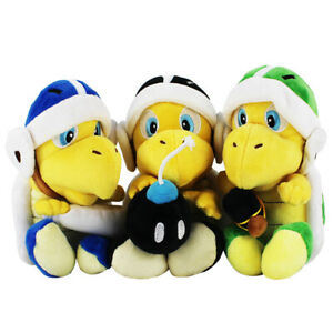 "8"" Super Mario Bros Bomb Bro. Koopa Troopa Turtle Soft Plush Toy Stuffed Animal"