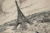 Animation Ink Eiffel Tower Paris Background Layout Disney Animator Roy Wilson