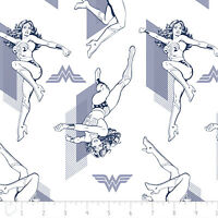 Warner Brothers Wonder Woman Outline Camelot 100% cotton fabric by the yard