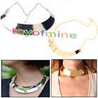 Womens New Fashion Punk Style Metal Collar Chain Bib Choker Statement Necklace