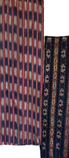 New listing 2 Lovely early 20th C. woven ikat fabrics Guatemalan Indonesian Cotton 5126
