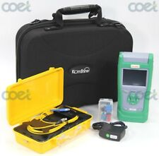 Optical Fiber Test Kit w/QX30 OTDR Fiber Tester and 500M SM OTDR Launch Cablebox