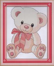 Easy Counted Cross Stitch Kit, Pretty Little Teddy Bear