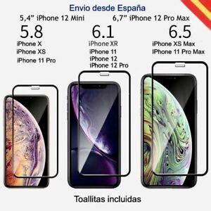 Protector Pantalla Cristal Templado iPhone 12 -11 Pro -11- X - XS - 12 Pro Max