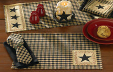 Placemat - Star Patch by Park Designs - Kitchen Dining Black Red Tan