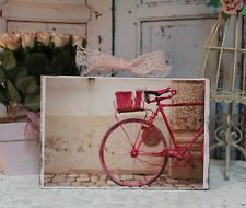 """""""Bicycle"""" ~ Shabby Chic Vintage French Country Cottage style Wall Decor Sign"""