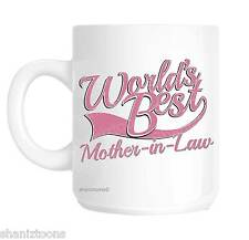 Mother In Law World's Best Pink Novelty Gift Mug shan846