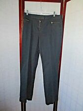 David Meister Cotton Blend Dress Pants Jeans Black Size 12  *GREAT*