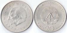 Pièce ALLEMAGNE EST communiste 20 mark DDR RDA 1972 WILHELM PIECK 1876 1960