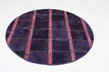 Patchwork Orient Teppich Vintage chic Rund 170 cm lila pink modern Used Look 809