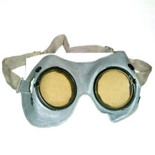 VINTAGE, ANTIQUE SAFETY, WELDING STEAMPUNK GOGGLES GLASSES SPECTACLES LEATHER