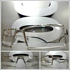 Mens Sophisticated Contemporary Modern Style Clear Lens EYE GLASSES Silver Frame