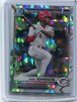 Ivan Johnson 2021 1st Bowman Chrome #BCP-149 Atomic Refractor Reds