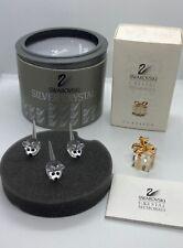 Swarovski Austria Silver Crystal Miniature Set Of 3 Mice Figurines And Other