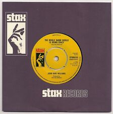 """NORTHERN SOUL 7"""" 45 JG WILLIAMS - THE WHOLE DAMN WORLD IS GOING CRAZY STAX NEW"""
