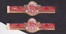 Ancienne  Bague de Cigare Vitola BN118246 Chien Boxers 1