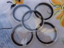 """FIVE - """"I"""" capsules 40mm black ring for American Silver Eagle coins"""