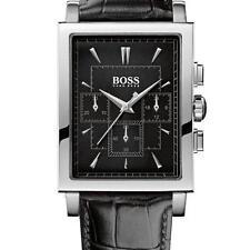 ** nuevo ** Para Hombre HUGO BOSS BLACK Clásico Chrono Reloj De Cuero - 1512849-RRP £ 279