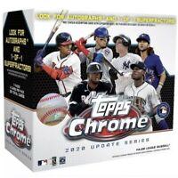 2020 Topps Chrome Update Baseball Blaster Box Factory Sealed