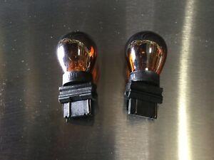 Amber Chrome Coated light Bulb 3157Amber 12V 21W