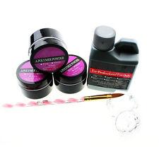 120ml Acrylic Liquid Nail Art Pen Clear glass Powder Nail Art Design Nail Set ED