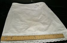 HANES HER WAY SIZE LARGE PANTY SHAPE WEAR WHITE WITH LACE TRIM NEW WITH TAGS