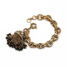 Tassels Chain Link Toggle Beaded Bracelets Luxury Antique Gold Fashion Jewelry