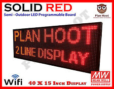 """40""""X15"""" LED RED COLOR WIFI USB SEMI-OUTDOOR INDOOR PROGRAMMABLE SCROLLING SIGN"""