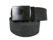 Black Nylon Cotton Web Belt Automatic Buckle Fits Sizes 32 To 48 New Tactical