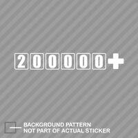 100000 Miles JDM Vinyl Decal Sticker
