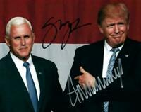 Donald Trump / Mike Pence Autographed Signed 8x10 Photo REPRINT