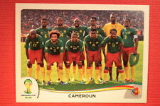 Panini BRASIL 2014 N. 90 TEAM CAMEROUN WITH BLACK BACK TOPMINT!!