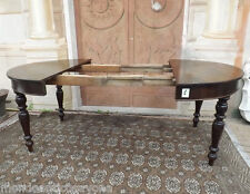 Tavolo rotondo Piemontese allungabile, in noce epoca '800 restaurato