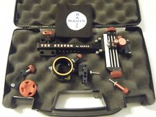 "4"" DAVIS TARGET SIGHT- Single knob-5.75 -black/red knobs-scope .019 green."