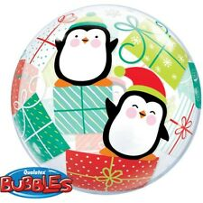 "Penguins & Presents 22"" Qualatex Bubble Balloon"