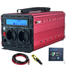Convertisseur 12V 220V Onduleur 2000W 4000W Power Inverter LCD Handle Rouge