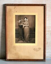 Old Antique Indian Beautiful Women Black & White Framed Camera Photograph