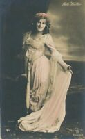 Reta Walter Hand Colored Real Photo Postcard - German Soprano Murdered at Age 21